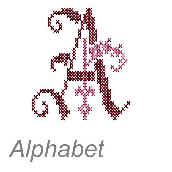 Buchstaben sticken trachten alphabet kreuzstich - Vorlagen kreuzstich ...