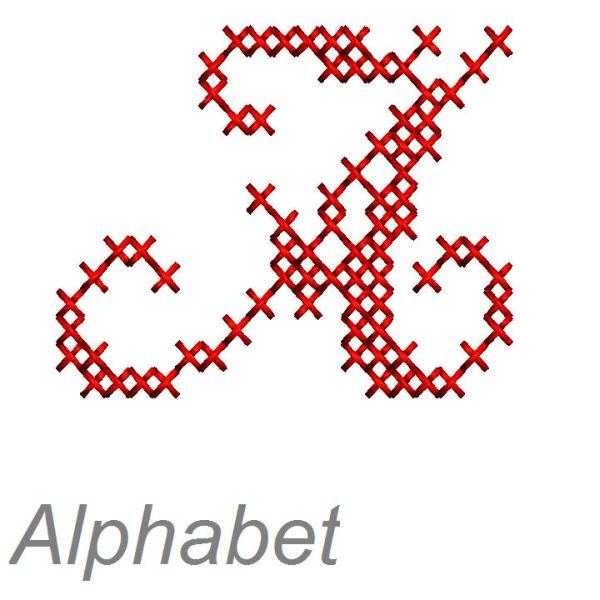 Hervorragend buchstaben sticken - Alphabet Kreuzstich Schreibschrift PQ51
