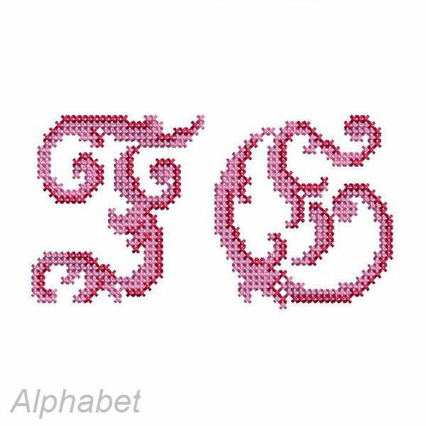 Häufig buchstaben sticken - Alte Prunkvolle Kreuzstich Buchstaben für HU98